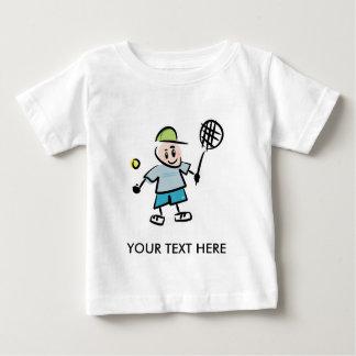 T-shirt Pour Bébé Tee - shirt de tennis d'enfants avec le joueur de