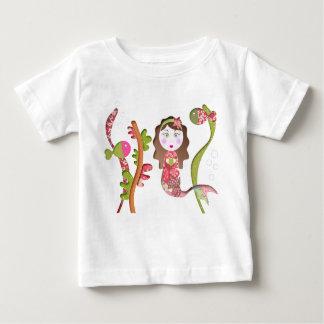 T-shirt Pour Bébé tee shirt enfant sirène mer rose liberty pois