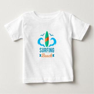 T-shirt Pour Bébé Tee Shirt Jersey Fin Bébé Surf