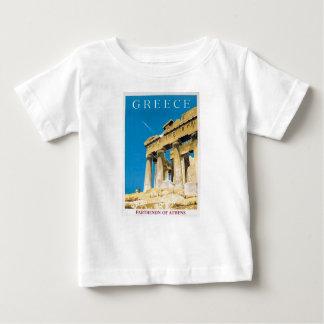 T-shirt Pour Bébé Temple vintage de parthenon d'Athènes Grèce de