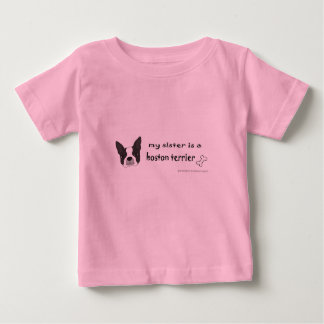 T-shirt Pour Bébé terrier de Boston