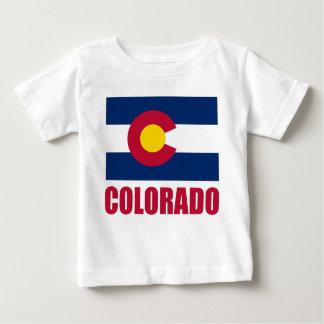 T-shirt Pour Bébé Texte de rouge de drapeau du Colorado