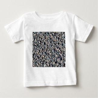 T-shirt Pour Bébé texture grise de gravier