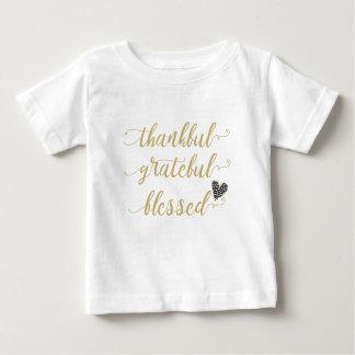 T-shirt Pour Bébé Thanksgiving béni reconnaissant reconnaissant