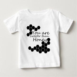 T-shirt Pour Bébé Thème de miel avec des mots positifs