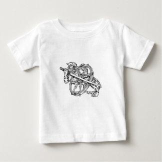 T-shirt Pour Bébé Tigre avec le tatouage de roue de Katana et de