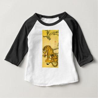 T-shirt Pour Bébé Tigre dans la neige