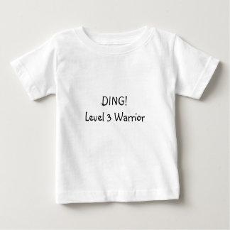 T-shirt Pour Bébé Tintement ! Guerrier du niveau 3