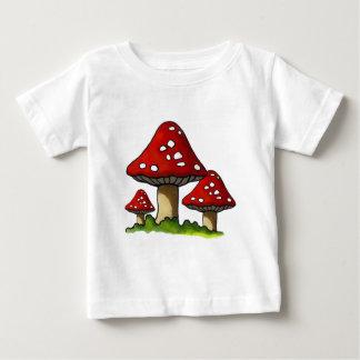 T-shirt Pour Bébé Toadtstools rouge, champignon : Art à main levée