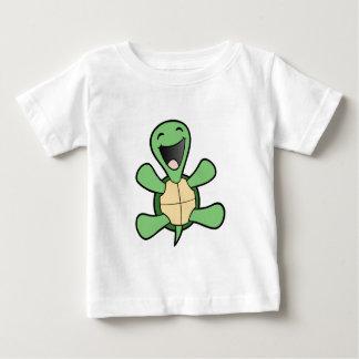 T-shirt Pour Bébé Tortue heureuse