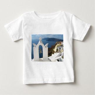 T-shirt Pour Bébé Tour de Santorini Bell pendant l'après-midi Sun