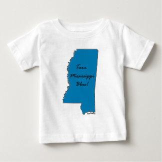 T-shirt Pour Bébé Tournez le Mississippi bleu ! Fierté Democratic !