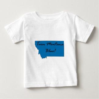 T-shirt Pour Bébé Tournez le Montana bleu ! Fierté Democratic !