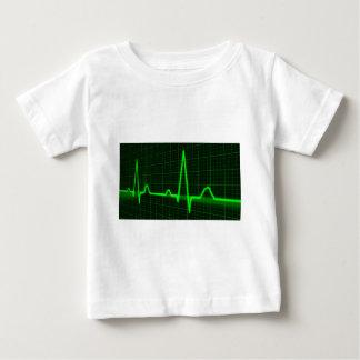 T-shirt Pour Bébé Trace d'impulsion de battement de coeur