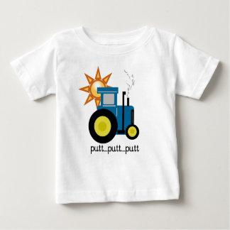 T-shirt Pour Bébé Tracteur bleu