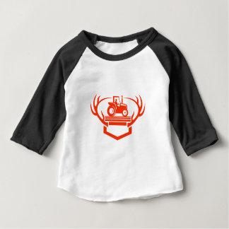 T-shirt Pour Bébé Tracteur d'Antler de cerfs communs de queue