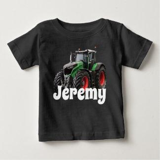 T-shirt Pour Bébé Tracteur vert moderne personnalisé