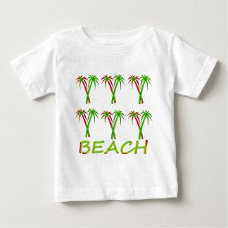 T-shirt Pour Bébé trois palmiers colorés