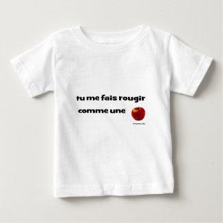 T-shirt Pour Bébé tu me fais rougir