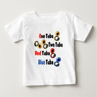 T-shirt Pour Bébé Tuba rouge de bleu de tuba