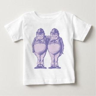 T-shirt Pour Bébé Tweedle Dee et Tweedle la lavande encrée par Dum