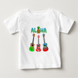 T-shirt Pour Bébé Ukulélé hawaïenne Aloha Hawaï
