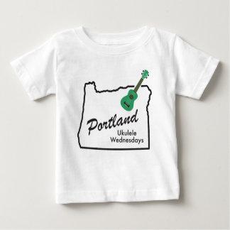 T-shirt Pour Bébé Ukulélé mercredi de Portland