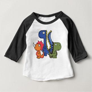 T-shirt Pour Bébé Un ami lunatique de dinosaure, mignon et adorable