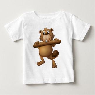 T-shirt Pour Bébé Un castor