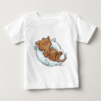 T-shirt Pour Bébé Un chaton tout mignon dort ! Sleeping Kitty