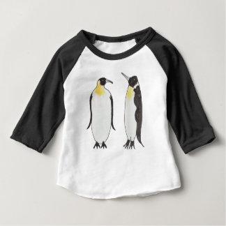 T-shirt Pour Bébé Un dessin d'encre de couples de pingouin
