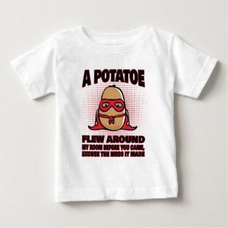 T-shirt Pour Bébé Un Potatoe a volé autour