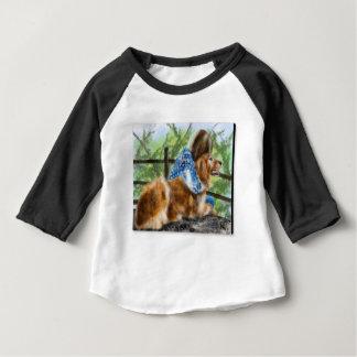 T-shirt Pour Bébé Une fille et son chien