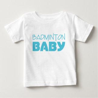 T-shirt Pour Bébé Usage de bébé de badminton (bleu)