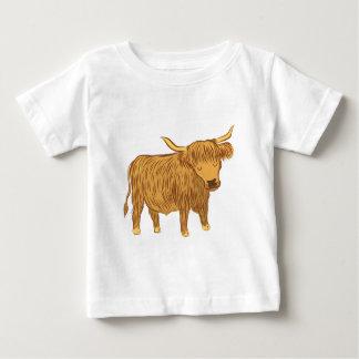 T-shirt Pour Bébé vache des montagnes (roucoulement)