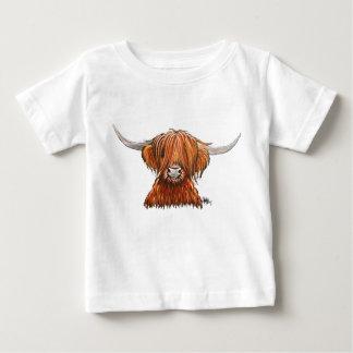 """T-shirt Pour Bébé Vache des montagnes velue écossaise """"HARLEY""""."""