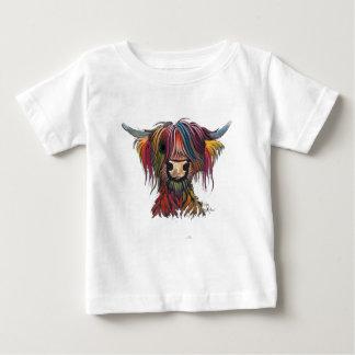 T-shirt Pour Bébé Vache des montagnes velue écossaise 'OLIVER '