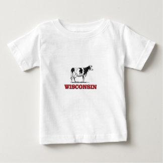 T-shirt Pour Bébé vache rouge au Wisconsin