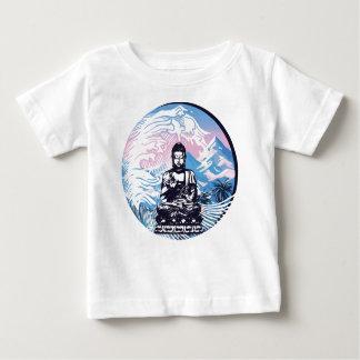 T-shirt Pour Bébé Vague de montagne tropicale de Bouddha