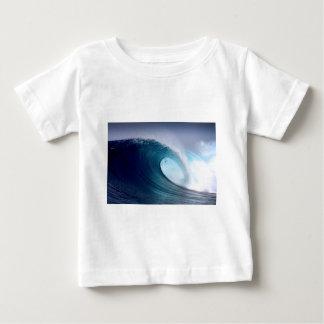 T-shirt Pour Bébé Vague surfante d'océan bleu