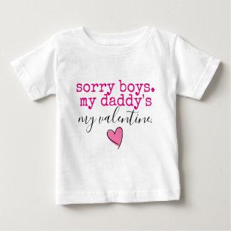 T-shirt Pour Bébé valentine de papa