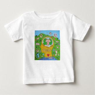 T-shirt Pour Bébé Vegan for the animals
