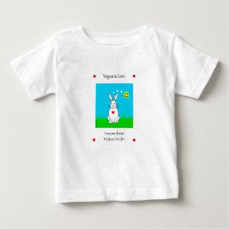 T-shirt Pour Bébé Vegan is love