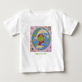 T-shirt Pour Bébé Vegan planet