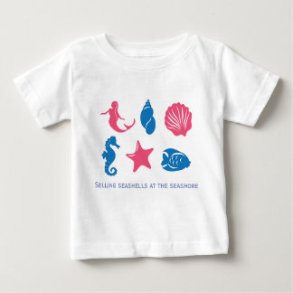 T-shirt Pour Bébé Vendant des coquillages au bord de la mer -