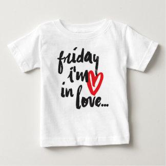 T-shirt Pour Bébé Vendredi im dans l'amour