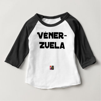 T-shirt Pour Bébé VÉNER-ZUELA - Jeux de mots - Francois Ville