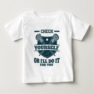 T-shirt Pour Bébé Vérifiez-vous ou je le ferai