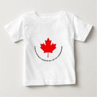 T-shirt Pour Bébé Véritable amour de patriote en tout de nous