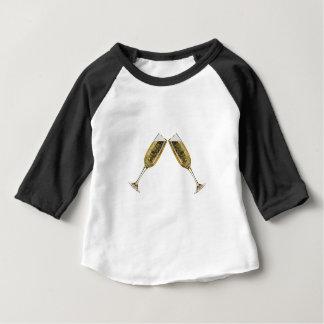 T-shirt Pour Bébé Verres de Champagne